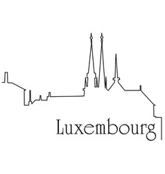 luxembourg city one line drawing background vector image