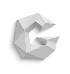 3d letter G on white vector image