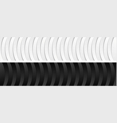 abstract corporate black and white wavy banners vector image