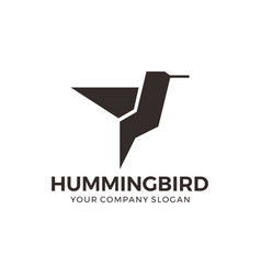abstract geometric hummingbird logo vector image