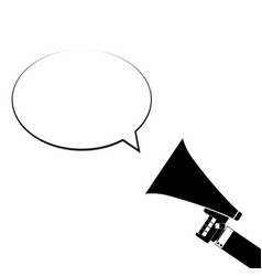 announcement in megaphone speech bubble vector image