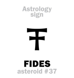 astrology asteroid fides vector image