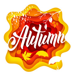 Autumn paper art vector