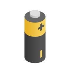 Battery icon isometric 3d style vector