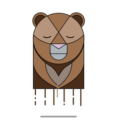 bear head sad vector image
