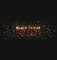 black friday sale background bright glare of vector image