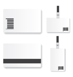 Blank id card vector image