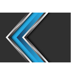 blue silver arrow direction on grey blank vector image