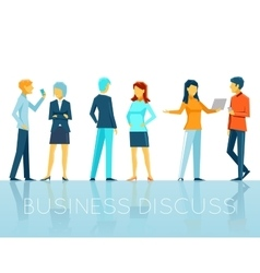 Business people discussing vector image