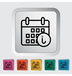 Calendar with info vector