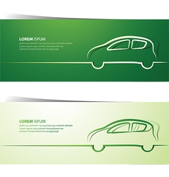 Car banner2 vector