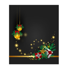 Christmas black and gold colour background vector
