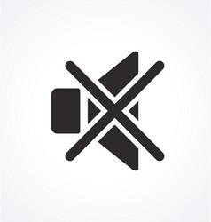 Classic audio speaker icon mute volume vector