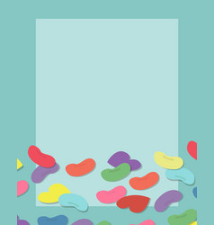 Colorful candy with frame copyspace vector