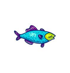 colorful swimming marine fish vector image