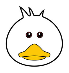 cute duck cute animal faces vector image