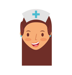 cute nurse avatar character vector image