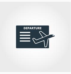 departure board creative icon simple element vector image