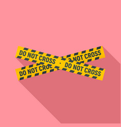 do not cross police line icon flat style vector image
