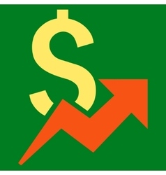 Dollar Growth Flat Icon vector image