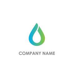 Droplet bio eco logo vector