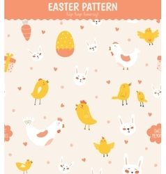 Easter greeting seamless pattern vector