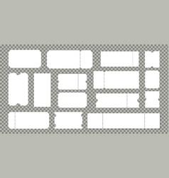 empty cinema or theater ticket set vector image