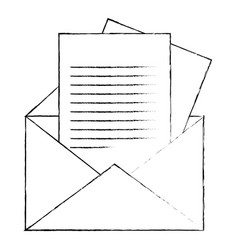 Envelope and letter page icon vector