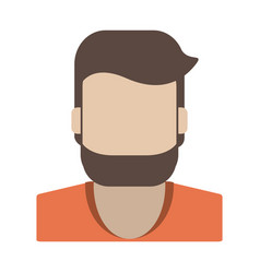 faceless man with beard icon image vector image