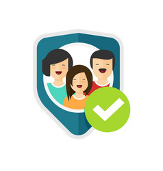 family protection sign flat vector image