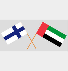 Finland and united arab emirates flags vector