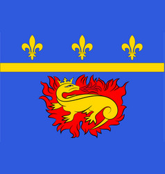 Flag of vitry-le-francois in grand est is a vector