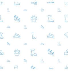 Foot icons pattern seamless white background vector