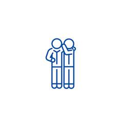 gossip line icon concept gossip flat vector image