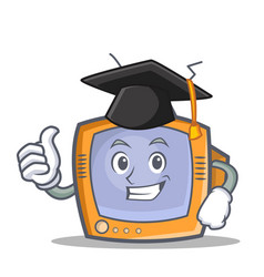 graduation tv character cartoon object vector image