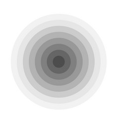 Grey concentric rings epicenter theme simple vector