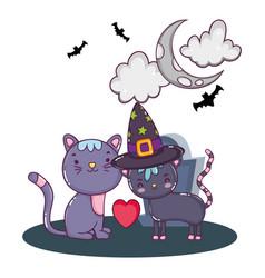 Halloween cute cartoons vector