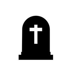 Halloween grave icon gravestone vector