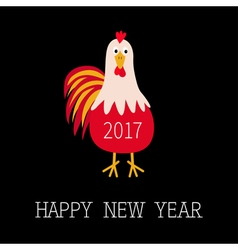 Happy New Year 2017 symbol Chinese calendar vector