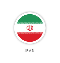 Iran circle flag template design vector