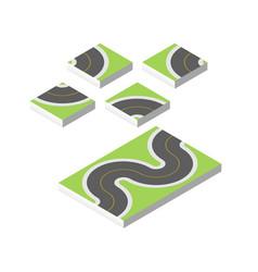 Isometric road eps 10 vector
