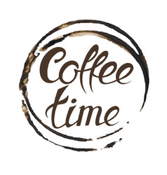 it s coffee time conceptual card vector image