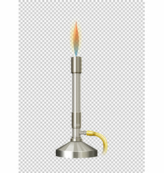 Lab burner with hot flame vector