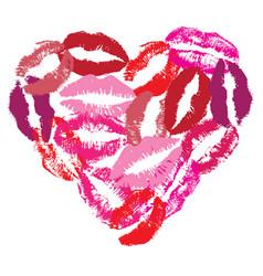 lip heart vector image