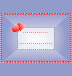 love envelope vector image
