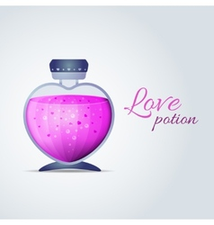 Love Potion for Valentines Day cards vector
