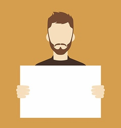 man with blank sign vector image