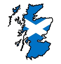 Map in colors of Scotland vector image