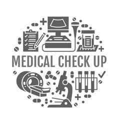 medical check up poster template flat vector image