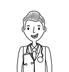 Medical doctor man vector